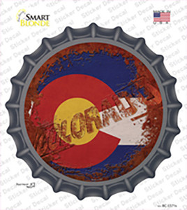 Colorado Rusty Stamped Wholesale Novelty Bottle Cap Sticker Decal