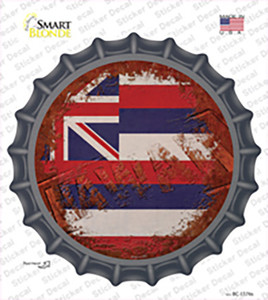 Hawaii Rusty Stamped Wholesale Novelty Bottle Cap Sticker Decal