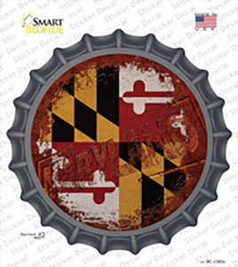 Maryland Rusty Stamped Wholesale Novelty Bottle Cap Sticker Decal