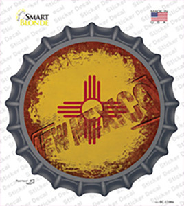 New Mexico Rusty Stamped Wholesale Novelty Bottle Cap Sticker Decal