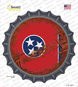 Tennessee Rusty Stamped Wholesale Novelty Bottle Cap Sticker Decal