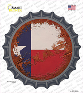 Texas Rusty Stamped Wholesale Novelty Bottle Cap Sticker Decal