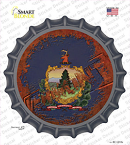 Vermont Rusty Stamped Wholesale Novelty Bottle Cap Sticker Decal