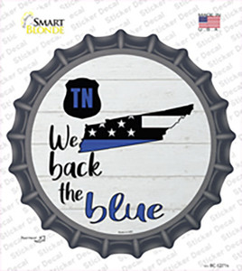 Tennessee Back The Blue Wholesale Novelty Bottle Cap Sticker Decal