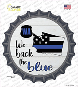 Washington Back The Blue Wholesale Novelty Bottle Cap Sticker Decal