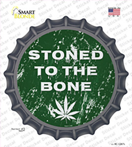 Stoned To The Bone Wholesale Novelty Bottle Cap Sticker Decal