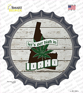 Lets Get High In Idaho Wholesale Novelty Bottle Cap Sticker Decal