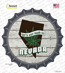 Lets Get High In Nevada Wholesale Novelty Bottle Cap Sticker Decal