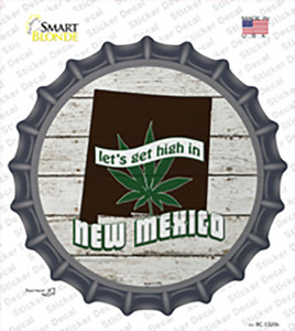 Lets Get High In New Mexico Wholesale Novelty Bottle Cap Sticker Decal