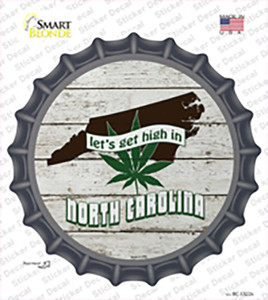 Lets Get High In North Carolina Wholesale Novelty Bottle Cap Sticker Decal