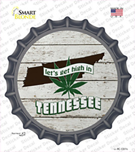 Lets Get High In Tennessee Wholesale Novelty Bottle Cap Sticker Decal