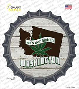 Lets Get High In Washington Wholesale Novelty Bottle Cap Sticker Decal