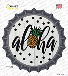 Aloha Pineapple Wholesale Novelty Bottle Cap Sticker Decal