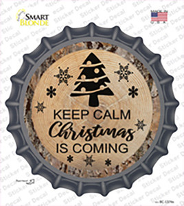 Christmas Is Coming Wholesale Novelty Bottle Cap Sticker Decal