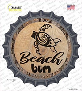 Beach Bum Seaturtle Wholesale Novelty Bottle Cap Sticker Decal