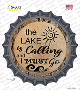 Lake is Calling Wholesale Novelty Bottle Cap Sticker Decal