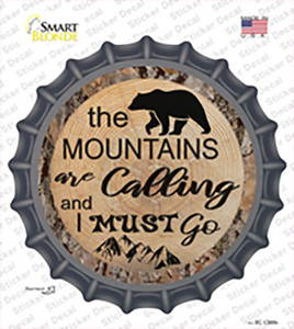 Mountains are Calling Wholesale Novelty Bottle Cap Sticker Decal