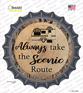 Scenic Route Wholesale Novelty Bottle Cap Sticker Decal