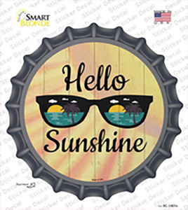 Hello Sunshine Wholesale Novelty Bottle Cap Sticker Decal