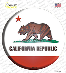 California State Flag Wholesale Novelty Circle Sticker Decal