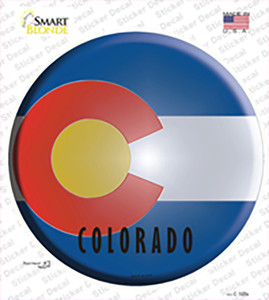 Colorado State Flag Wholesale Novelty Circle Sticker Decal