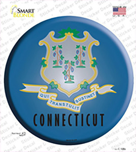 Connecticut State Flag Wholesale Novelty Circle Sticker Decal