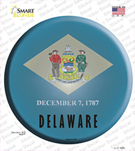 Delaware State Flag Wholesale Novelty Circle Sticker Decal