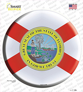 Florida State Flag Wholesale Novelty Circle Sticker Decal
