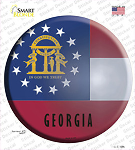 Georgia State Flag Wholesale Novelty Circle Sticker Decal