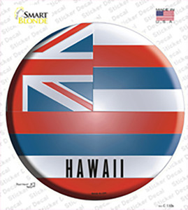 Hawaii State Flag Wholesale Novelty Circle Sticker Decal