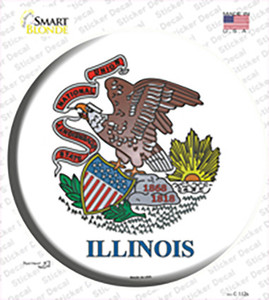 Illinois State Flag Wholesale Novelty Circle Sticker Decal