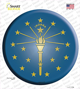 Indiana State Flag Wholesale Novelty Circle Sticker Decal