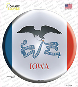 Iowa State Flag Wholesale Novelty Circle Sticker Decal