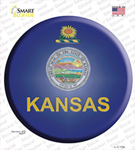 Kansas State Flag Wholesale Novelty Circle Sticker Decal