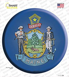 Maine State Flag Wholesale Novelty Circle Sticker Decal