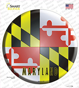 Maryland State Flag Wholesale Novelty Circle Sticker Decal