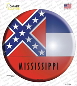 Mississippi State Flag Wholesale Novelty Circle Sticker Decal
