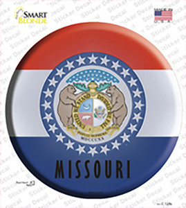 Missouri State Flag Wholesale Novelty Circle Sticker Decal