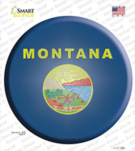 Montana State Flag Wholesale Novelty Circle Sticker Decal