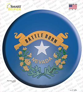 Nevada State Flag Wholesale Novelty Circle Sticker Decal