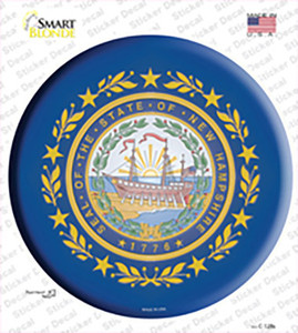New Hampshire State Flag Wholesale Novelty Circle Sticker Decal