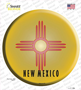 New Mexico State Flag Wholesale Novelty Circle Sticker Decal