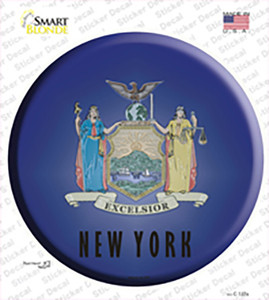 New York State Flag Wholesale Novelty Circle Sticker Decal