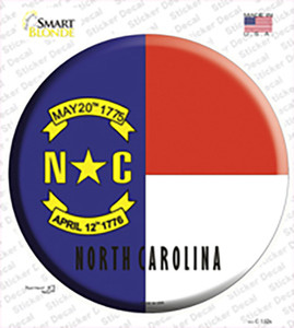 North Carolina State Flag Wholesale Novelty Circle Sticker Decal