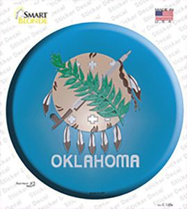 Oklahoma State Flag Wholesale Novelty Circle Sticker Decal