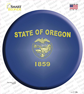 Oregon State Flag Wholesale Novelty Circle Sticker Decal