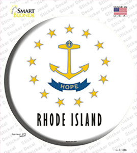 Rhode Island State Flag Wholesale Novelty Circle Sticker Decal