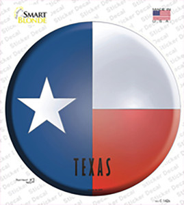 Texas State Flag Wholesale Novelty Circle Sticker Decal