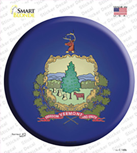 Vermont State Flag Wholesale Novelty Circle Sticker Decal