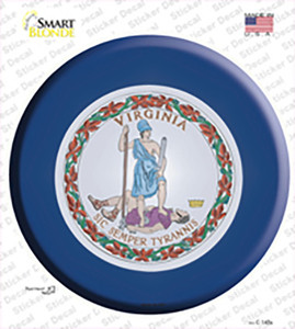 Virginia State Flag Wholesale Novelty Circle Sticker Decal